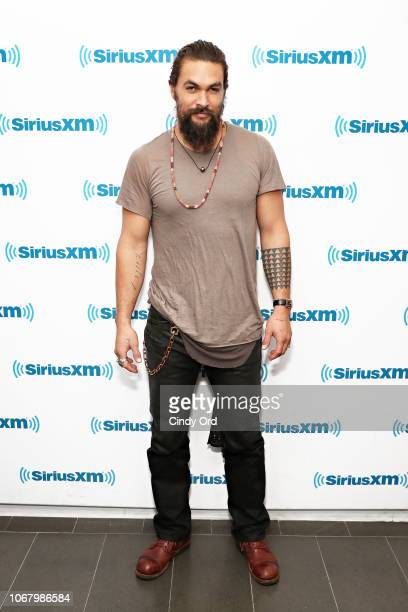 Actor Jason Momoa visits the SiriusXM Studios on December 4 2018 in New York City