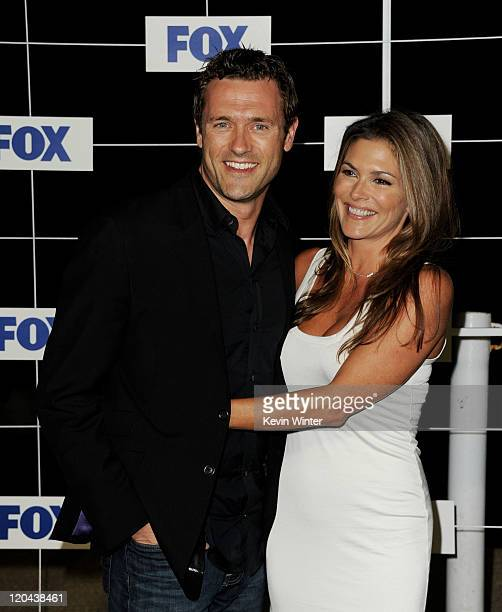 Actor Jason O'Mara and his wife Paige Turco arrive at the FOX AllStar party at Gladstones on August 5 2011 in Pacific Palisades California