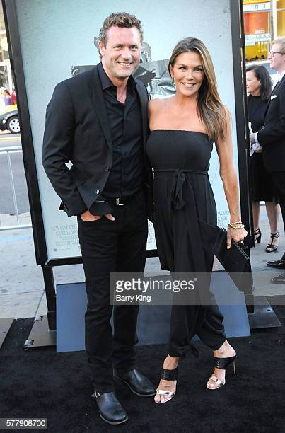 Actor Jason O'Mara and Paige Turco attend the premiere of New Line Cinema's 'Lights Out' at TCL Chinese Theatre on July 19 2016 in Hollywood...