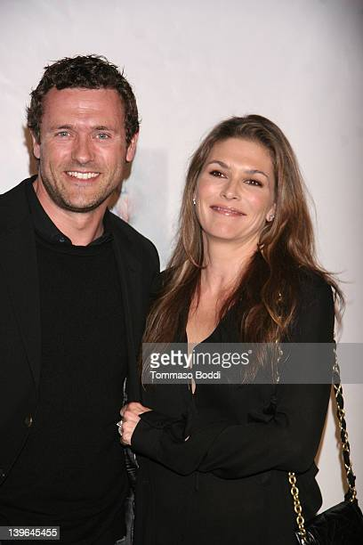 Actor Jason O'Mara and Paige Turco attend the USIreland Alliance Oscar Wilde PreAcademy Awards event held at the Bad Robot on February 23 2012 in...