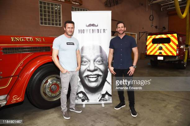 Actor Jason O'Mara and television personality Tarek El Moussa attend the MOVEMBER Kickoff Event with Tarek El Moussa and Jason O'Mara at the Culver...