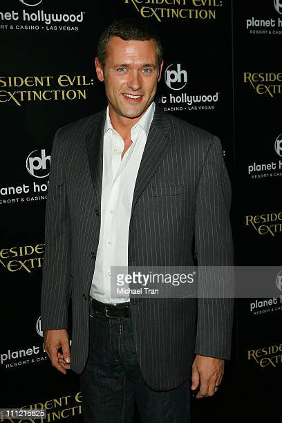 Actor Jason O'Mara arrives at the World Premiere of Resident Evil Extinction at Planet Hollywood Resort and Casino on September 20 2007 in Las Vegas...