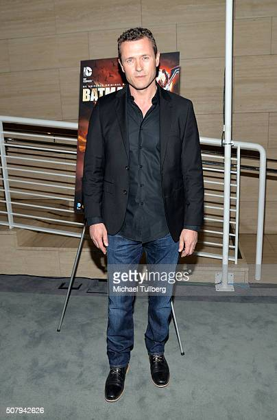 Actor Jason O'Mara attends the premiere of DC Entertainment and Warner Bros Animation's Batman Bad Blood at The Paley Center for Media on February 1...