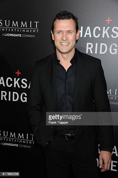 "Actor Jason O'Mara attends the screening of Summit Entertainment's ""Hacksaw Ridge"" held at the Samuel Goldwyn Theater on October 24, 2016 in Beverly..."