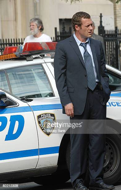 "Actor Jason O'Mara on location for ""Life On Mars"" on August 7, 2008 in the Brooklyn Borough of New York City."