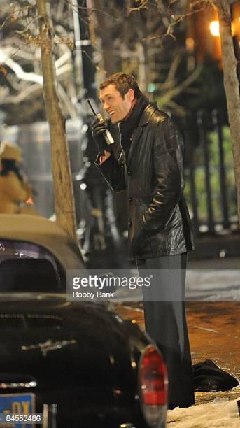 Actor Jason O'Mara on location for Life on Mars on the streets of Manhattan on January 29 2009 in New York City