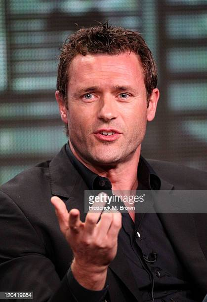 Actor Jason O'Mara speaks onstage at Terra Nova panel during the FOX portion of the 2011 Summer TCA Tour at the Beverly Hilton Hotel on August 5 2011...