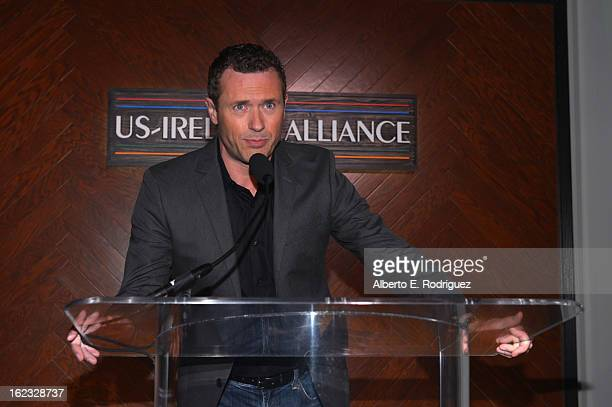 Actor Jason O'Mara speaks onstage at the 8th Annual Oscar Wilde Honoring The Irish In Film PreAcademy Awards Event at Bad Robot on February 21 2013...