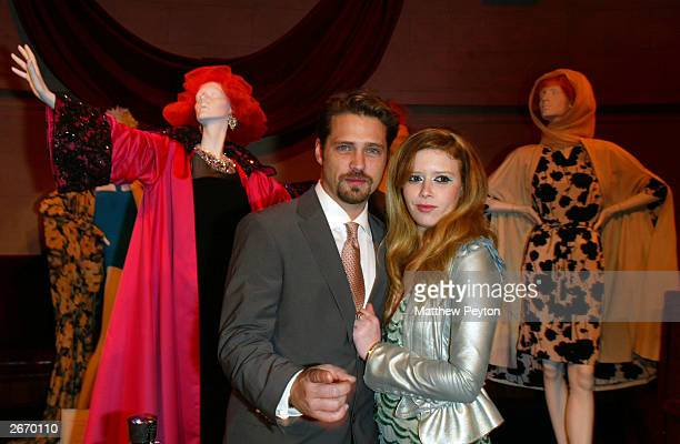 Actor Jason Priestley and actress Natasha Leone attend the after party for the premiere of Die Mommy Die at Laura Belle's October 27 2003 in New York...