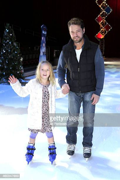 Actor Jason Priestley and daughter Ava Priestley attend Disney On Ice Presents Let's Celebrate Presented By Stonyfield YoKids Organic Yogurt...