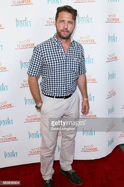 Actor Jason Priestley arrives at Raising The Bar To End Parkinson's at Laurel Point on July 27 2016 in Studio City California