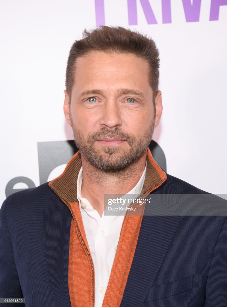 Actor Jason Priestley arrives at the ION Television Private Eyes Launch Event on February 8, 2018 in New York City.