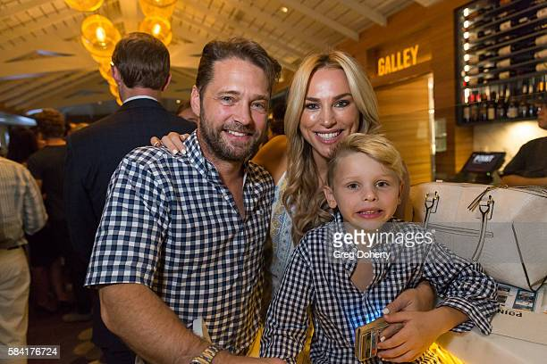 Actor Jason Priestley spouse Naomi LowdePriestley and their son Dashiell Orson Priestley attend the Raising The Bar To End Parkinson's after party at...