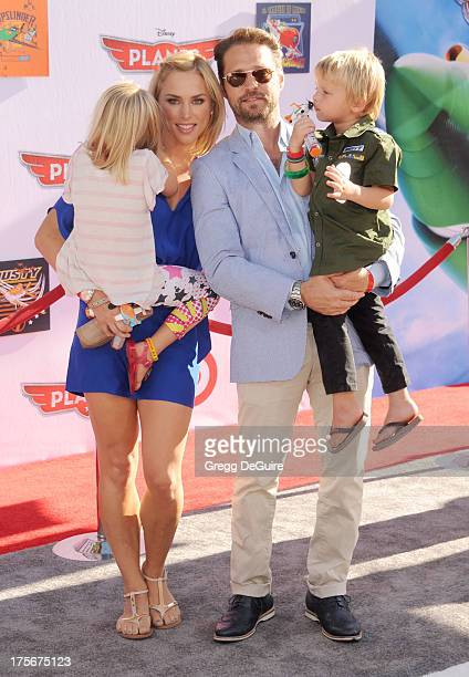 Actor Jason Priestley wife Naomi Lowde Priestley children Ava Veronica Priestley and Dashiell Orson Priestley arrive at the Los Angeles premiere of...