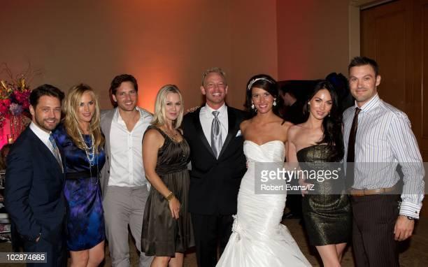 **EXCLUSIVE** Actor Jason Priestley wife Naomi LowdePriestley actors Peter Facinelli Jennie Garth Ian Ziering wife Erin Ludwig Megan Fox and Brian...