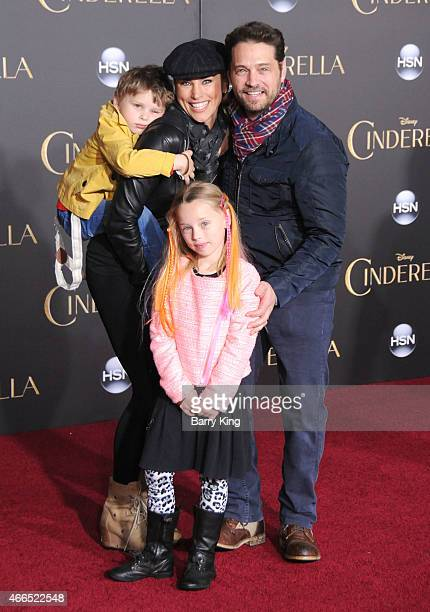 Actor Jason Priestley wife Naomi LowdePriestley and son Dashiell Orson Priestley and daughter AVa Veronica Priestley attend the premiere of...