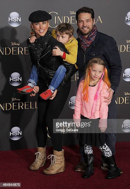 Actor Jason Priestley wife Naomi LowdePriestley son Dashiell Orson Priestley and daughter Ava Veronica Priestley arrive at the World Premiere of...