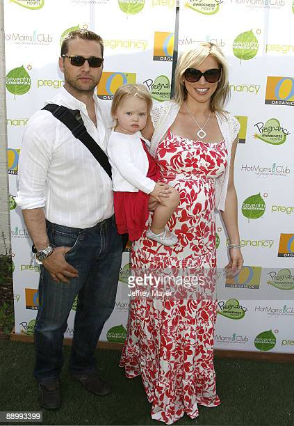 Actor Jason Priestley wife Naomi Priestly and daughter Ava Priestly arrive at the 2nd Annual Pregnancy Awareness Month Celebration at Little Dolphins...