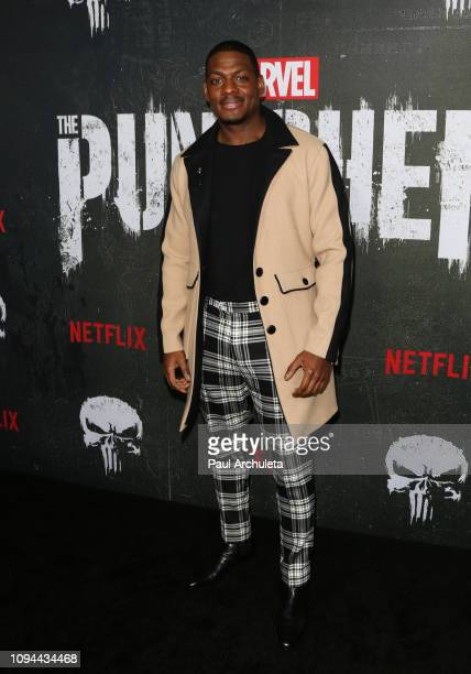 Actor Jason R Moore attends Marvel's The Punisher Los Angeles premiere at the ArcLight Hollywood on January 14 2019 in Hollywood California