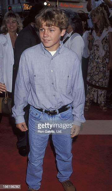 Actor Jason Ritcher attends the world premiere of 'The Fugitive' on July 29 1993 at Mann Village Theater in Westwood California