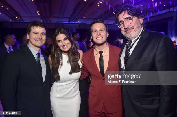 Actor Jason Ritter Actress Idina Menzel and actors Jonathan Groff and Alfred Molina attend the world premiere of Disney's Frozen 2 at Hollywood's...