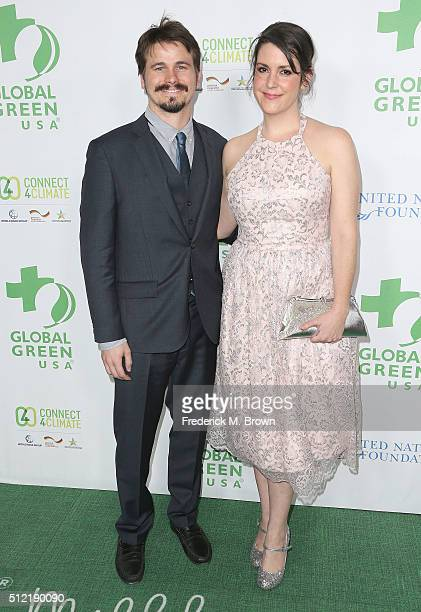 Actor Jason Ritter and actress Melanie Lynskey attend the Global Green USA's 13th Annual PreOscar Party at the Mr C Beverly Hills Hotel on February...