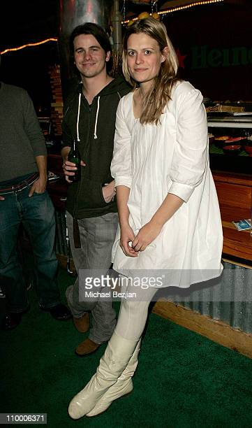 Actor Jason Ritter and Director Marianna Palka attend the Good Dick dinner at the Heineken Green Room on January 18 2008 in Park City Utah