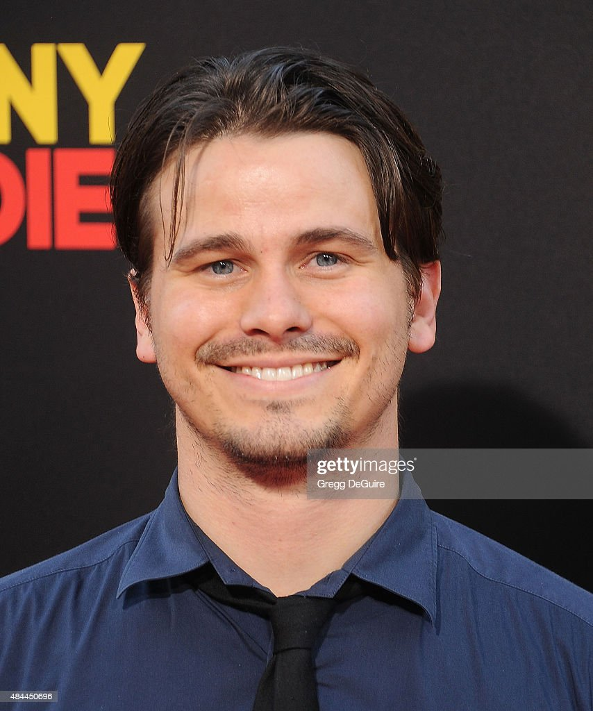 Actor Jason Ritter arrives at the premiere of Lionsgate's 'American Ultra' at Ace Theater Downtown LA on August 18, 2015 in Los Angeles, California.