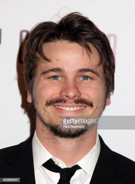 Actor Jason Ritter arrives at Tie The Knot Store Grand Opening with founder Jesse Tyler Ferguson at The Beverly Center on December 5 2013 in Los...
