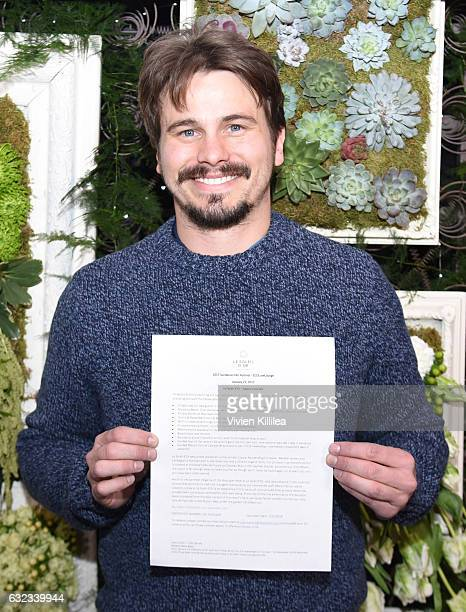 Actor Jason Ritter attends EcoLuxe Lounge Ten Years at Sundance on January 21 2017 in Park City Utah