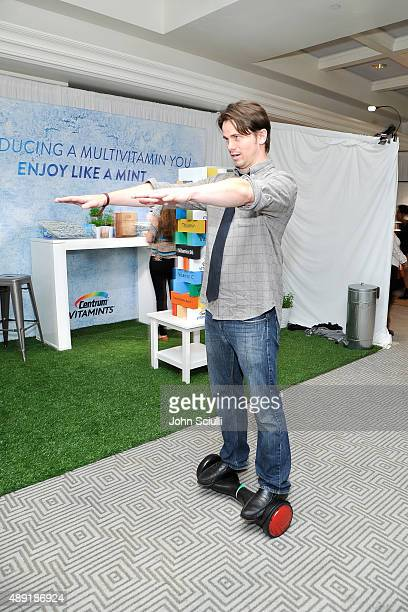 Actor Jason Ritter attends EXTRA's WEEKEND OF   LOUNGE produced by On 3 Productions at The London West Hollywood on September 19 2015 in West...