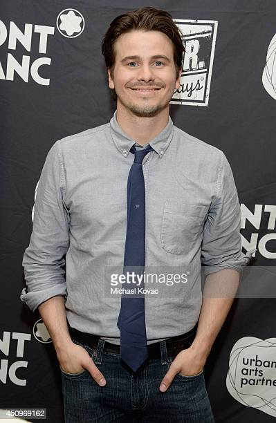 Actor Jason Ritter attends Montblanc and Urban Arts Partnership's 24 Hour Plays in Los Angeles at The Shore Hotel on June 20 2014 in Santa Monica...