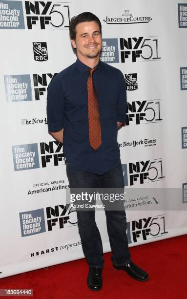 Actor Jason Ritter attends the 12 Years A Slave Nebraska premieres during the 51st New York Film Festival at Alice Tully Hall at Lincoln Center on...