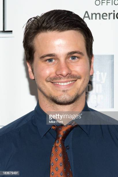Actor Jason Ritter attends the '12 Years A Slave' premiere during the 51st New York Film Festival at Alice Tully Hall at Lincoln Center on October 8...
