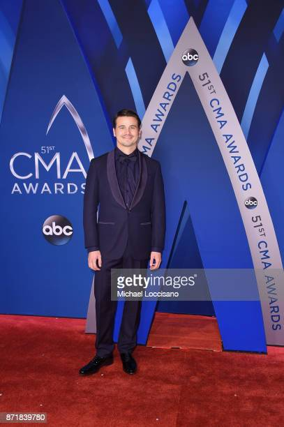Actor Jason Ritter attends the 51st annual CMA Awards at the Bridgestone Arena on November 8 2017 in Nashville Tennessee
