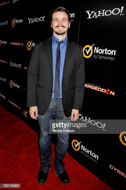 Actor Jason Ritter attends the 'Cybergeddon' Los Angeles premiere at Pacfic Design Center on September 24 2012 in West Hollywood California