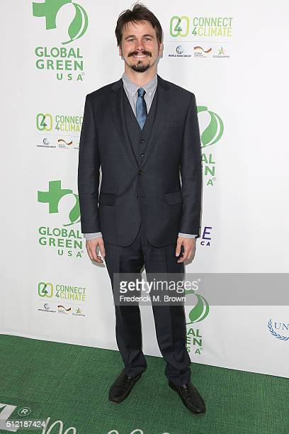 Actor Jason Ritter attends the Global Green USA's 13th Annual PreOscar Party at the Mr C Beverly Hills Hotel on February 24 2016 in Beverly Hills...