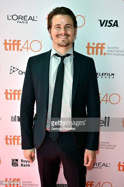 Actor Jason Ritter attends The Meddler premiere during the 2015 Toronto International Film Festival at the Princess of Wales Theatre on September 14...