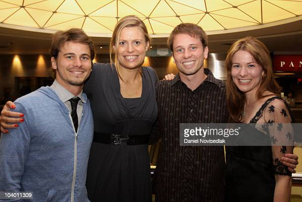 Actor Jason Ritter Marianna Palka Tyler Ritter and Carly Ritter attend the Neds Premiere held at Varsity Cinemas during the 35th Toronto Film...