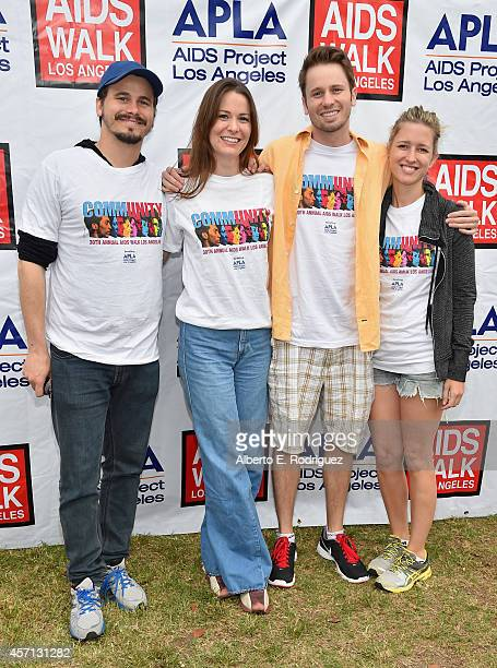 Actor Jason Ritter singer Carly Ritter actor Tyler Ritter and Lelia Parma attend the 30th Annual AIDS Walk Los Angeles on October 12 2014 in West...