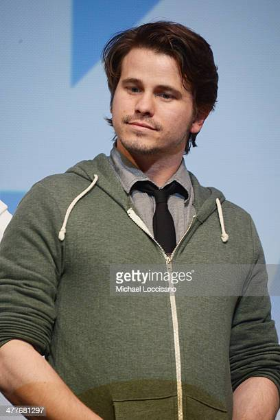 Actor Jason Ritter takes part in a QA following the We'll Never Have Paris premiere during the 2014 SXSW Music Film Interactive Festival at the...