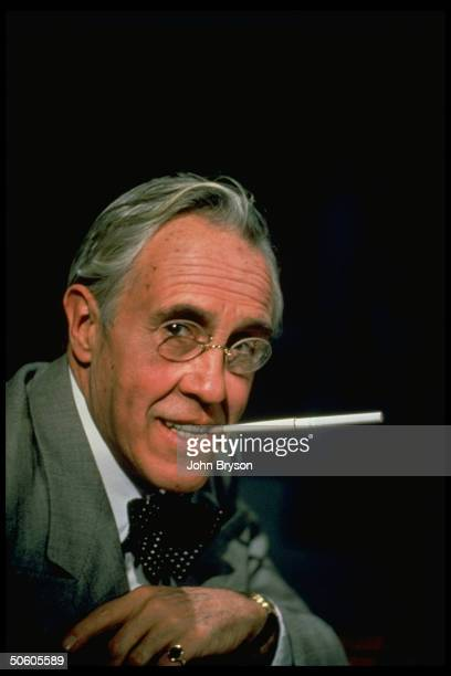 Actor Jason Robards as US Pres Franklin Delano Roosevelt in publicity still for TV movie FDR The Last Year