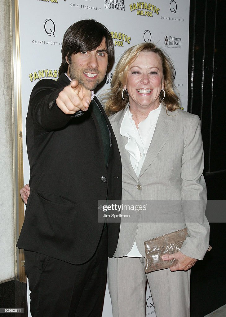 Actor Jason Schwartzman and Fox Searchlight Co-President Nancy Utley attend the 'Fantastic Mr. Fox' premiere at Bergdorf Goodman on November 10, 2009 in New York City.
