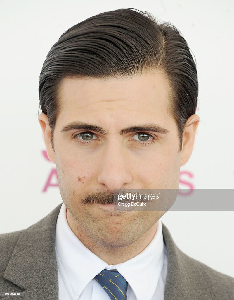 Actor Jason Schwartzman arrives at the 2013 Film Independent Spirit Awards at Santa Monica Beach on February 23, 2013 in Santa Monica, California.