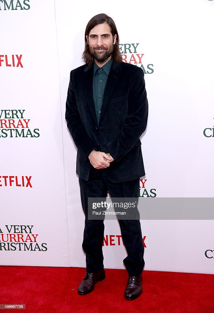 Actor Jason Schwartzman attends 'A Very Murray Christmas' New York premiere at Paris Theater on December 2, 2015 in New York City.