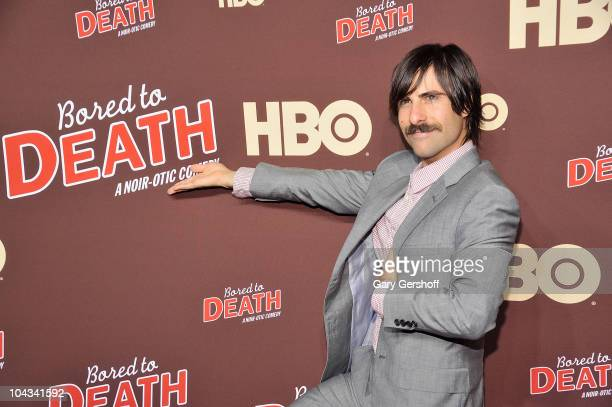 Actor Jason Schwartzman attends HBO's Bored To Death premiere at Jack H Skirball Center for the Performing Arts on September 21 2010 in New York City