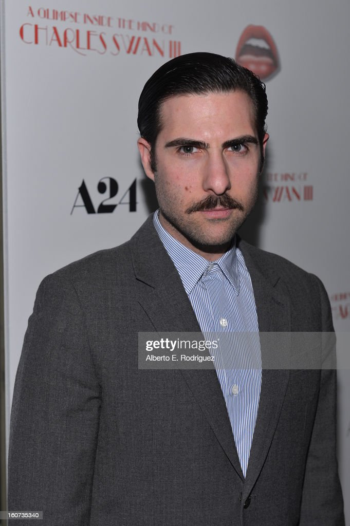 Actor Jason Schwartzman attends the Los Angeles premiere of A24's 'A Glimpse Inside The Mind Of Charles Swan III' at ArcLight Hollywood on February 4, 2013 in Hollywood, California.