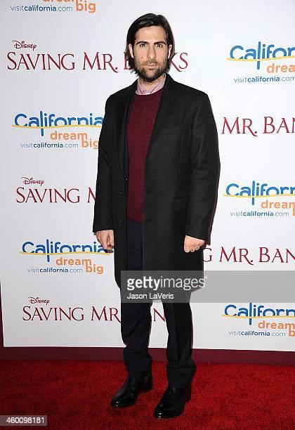 Actor Jason Schwartzman attends the premiere of Saving Mr Banks at Walt Disney Studios on December 9 2013 in Burbank California