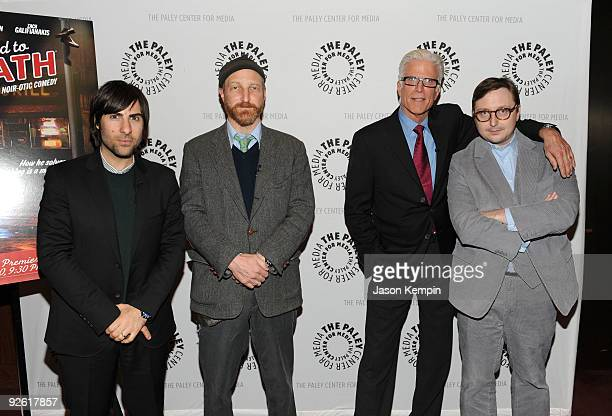 Actor Jason Schwartzman creator/executive producer Jonathan Ames actor Ted Danson and actor John Hodgman attend a Bored To Death panel at the Paley...