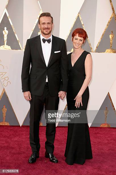 Actor Jason Segel and Alexis Minter attend the 88th Annual Academy Awards at Hollywood Highland Center on February 28 2016 in Hollywood California